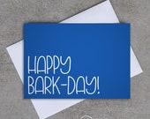 Happy Bark-Day! - Birthday card