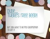 Groomsman card - 'Dud...