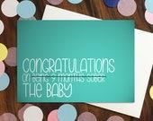 Baby card - 'Congratu...