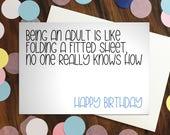 Birthday card - 'Being ...