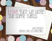 Love card - 'I love tha...