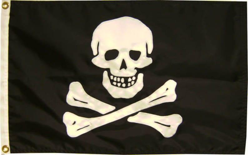 Various Sizes Pirate Edward England Handsewn Jolly Roger Flag