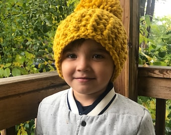 5695766f14d4c Kids Crochet Fleece Lined Hat - any color