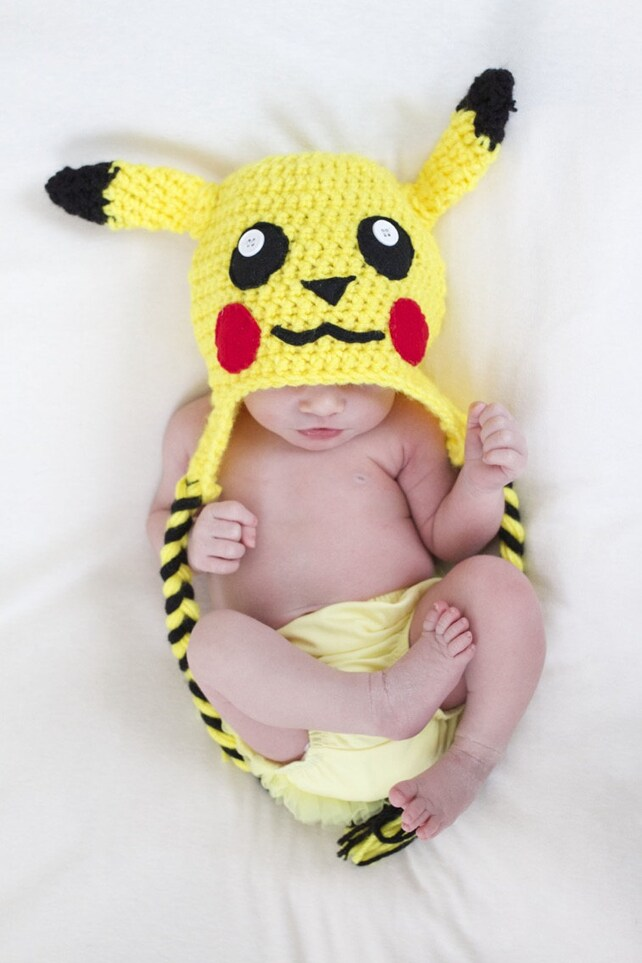 Pikachu Häkeln Beanie Mütze Für Babys Und Kinder Baby Etsy