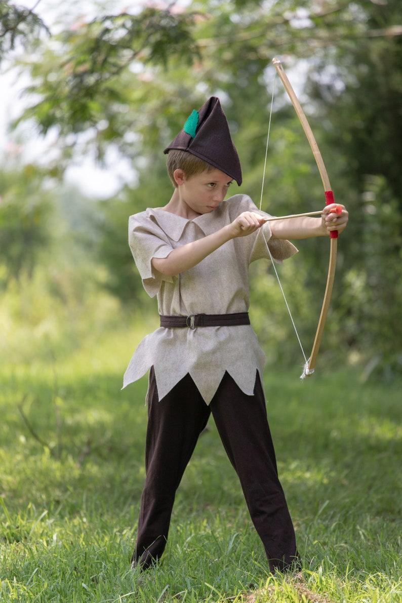 Robin Hood Costume 3 Piece Felt Dress Up Pretend Play Girl or Boy Halloween