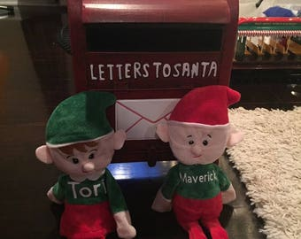 Personalized Christmas Plush Elves/Animals