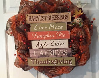 Everything Fall Time Wreath