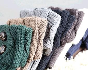 Womens Boot Socks Cuffs, Boot Cuffs, Boot Topper, Knitted Boot Cuffs, Knit Button Cuffs, Crochet Boot Cuffs