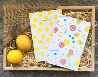 Lemon Lime Summertime Notebook / Workbook Set