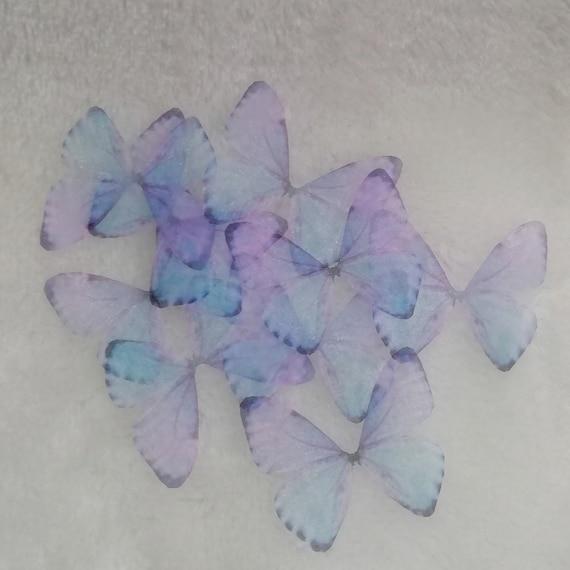 3CM4CM5CM6CM8CM Butterfly wings JewelryCostume Organza Butterfly Wings Fabric Wings Size Optional Butterfly Wings