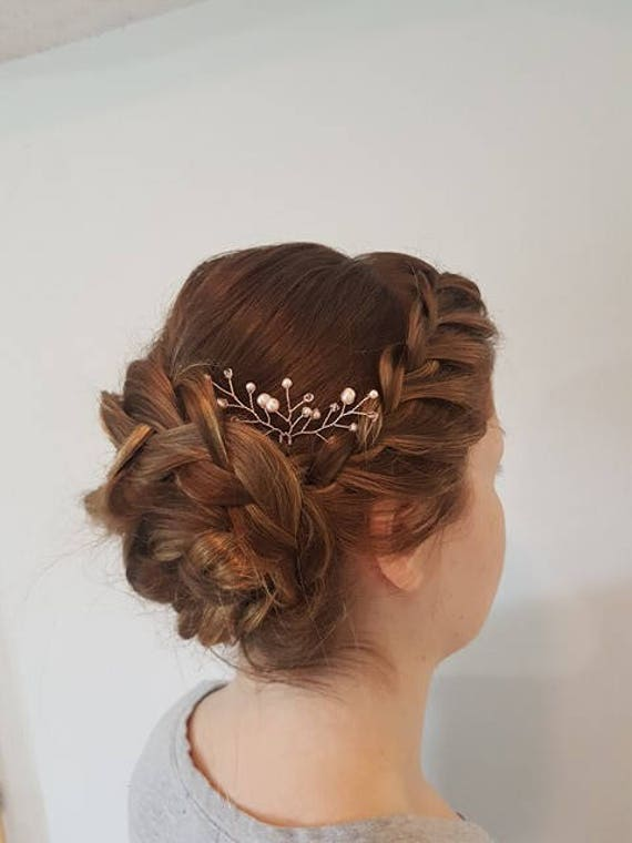 Rose Gold Hair Accessories For Brides Etsy