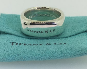 df0a1cce5 2003 Tiffany & Co 925 Sterling Silver Cushion Square Band Ring