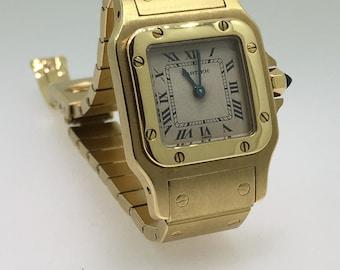 605576183f5f Cartier Santos Galbee 18K Yellow Gold Automatic Ladies Bracelet Watch ref   W20010C5.