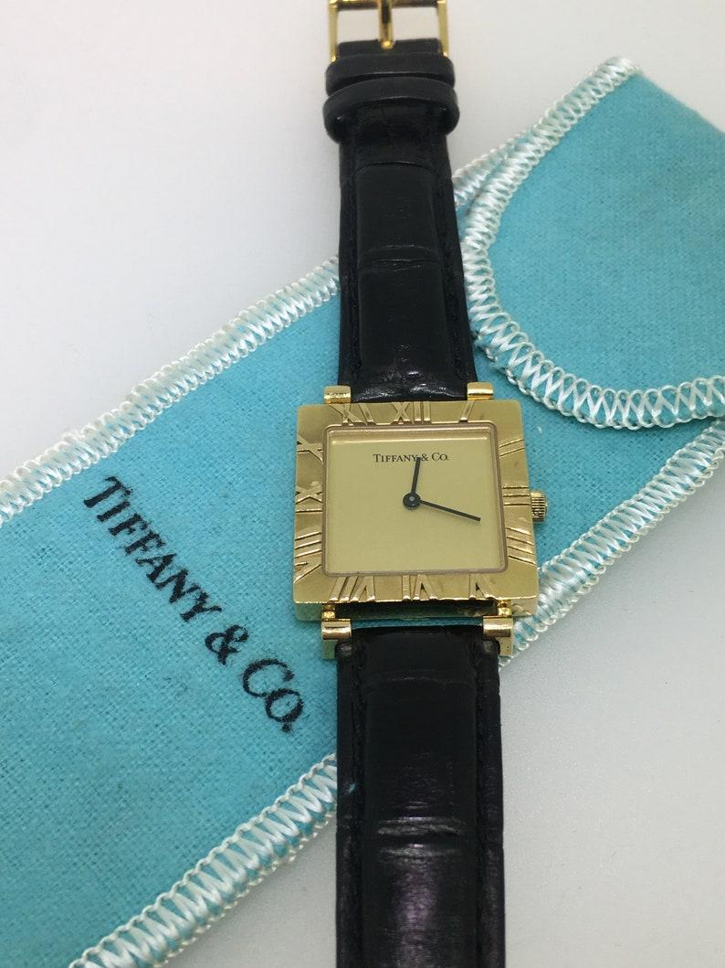 c48cafc35 Tiffany & Co 18K Yellow Gold Atlas ref 3630 Square Ladies | Etsy
