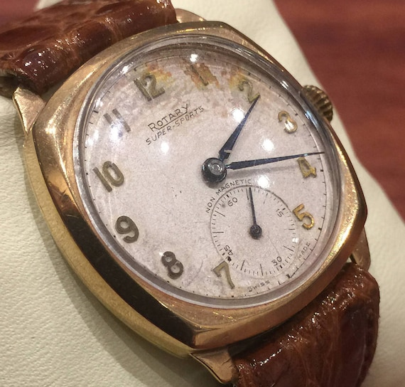 Gold Art-Deco Gents' Watch by ROTARY, Super-Sports
