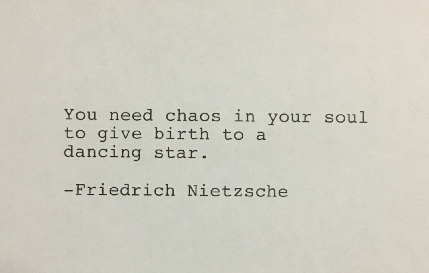 Friedrich Nietzsche Quote Hand Typed Typewriter Quote You Etsy