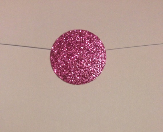 1 x 25 Shimmery Rose Gold Glitter Glamor Circle Seals