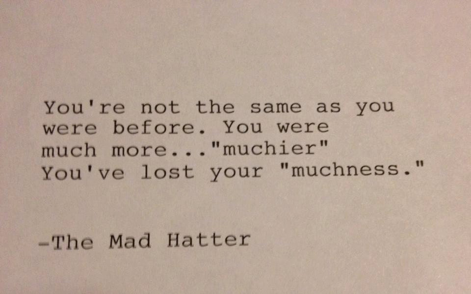 Mad Hatter Quotes Inspiration The Mad Hatter Hand Typed Typewriter Quote You're Not Etsy