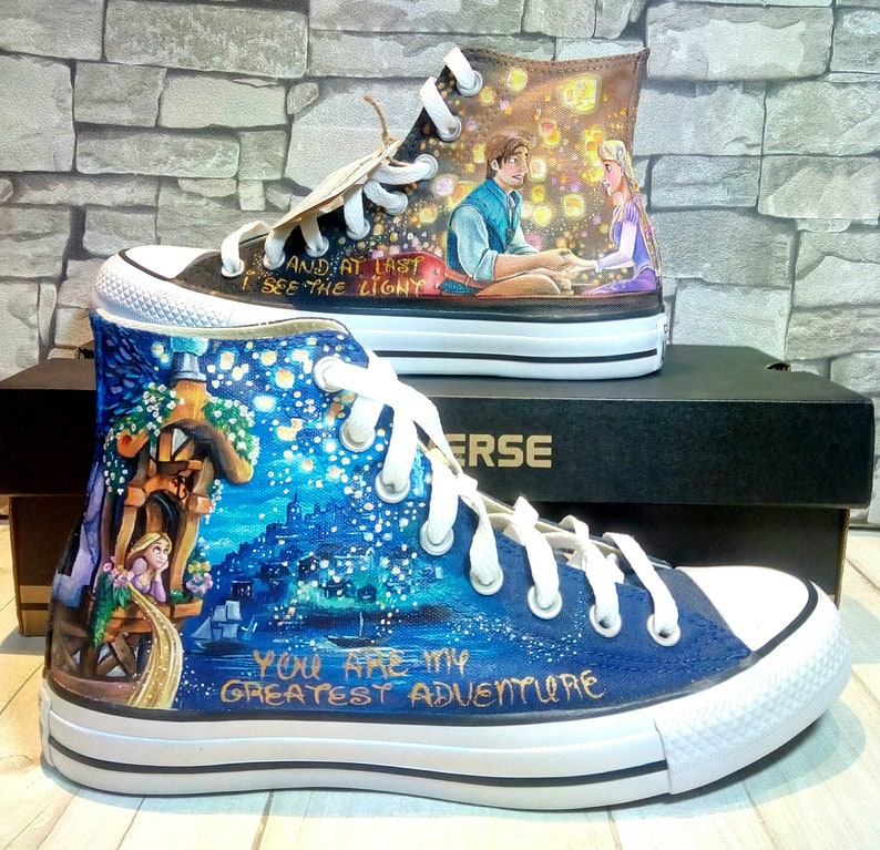 507f2fbebaff45 Rapunzel shoes Tangled shoes Disney shoes hand painted