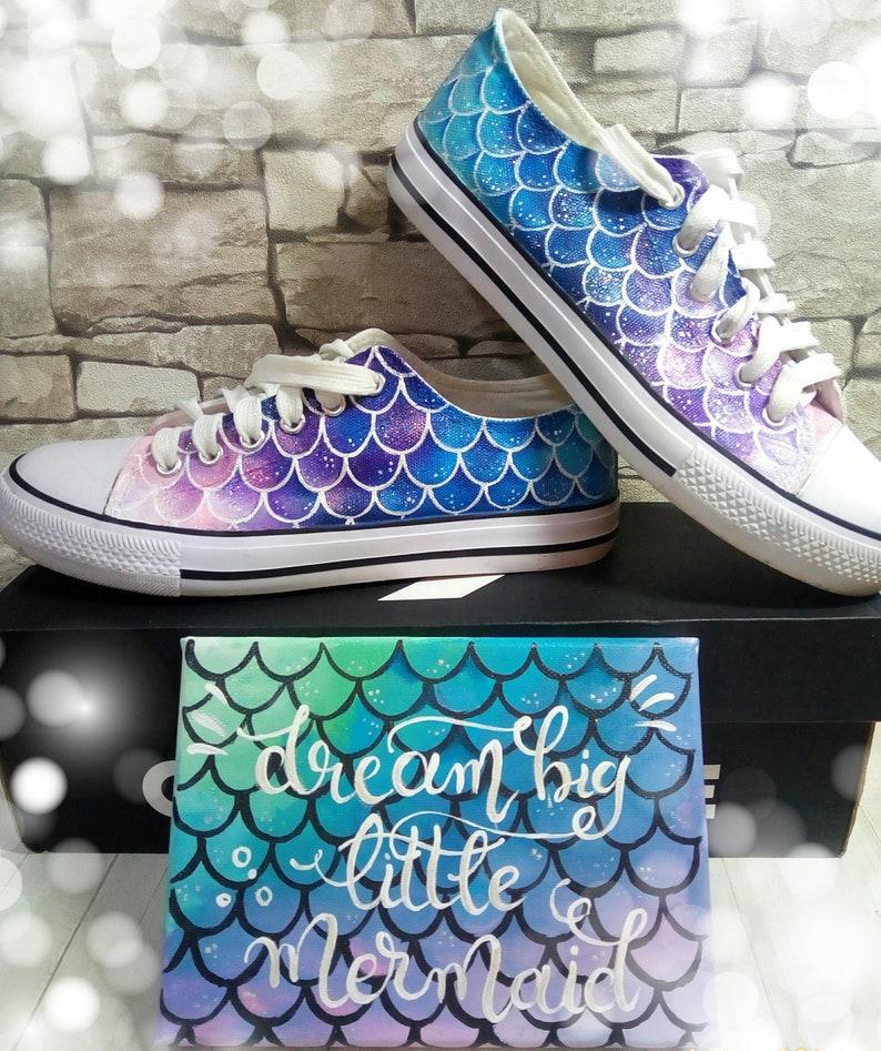 0fcf76cebbda0 Mermaid shoes, mermaid themed, dragon scales, hand painted shoes, custom  converse, mermaid wedding shoes, wedding shoes, fairytale wedding