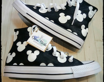 Disney shoes, Mickey mouse shoes, hand painted shoes, Disney themed wedding, Disney wedding, Disney birthday
