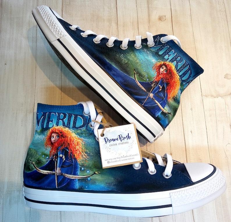 fd6ad335cd351a Brave Disney princess Disney shoes hand painted shoes
