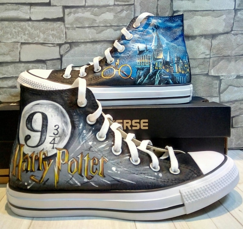 047530fa3f90 Harry Potter inspired shoes hand painted shoes custom