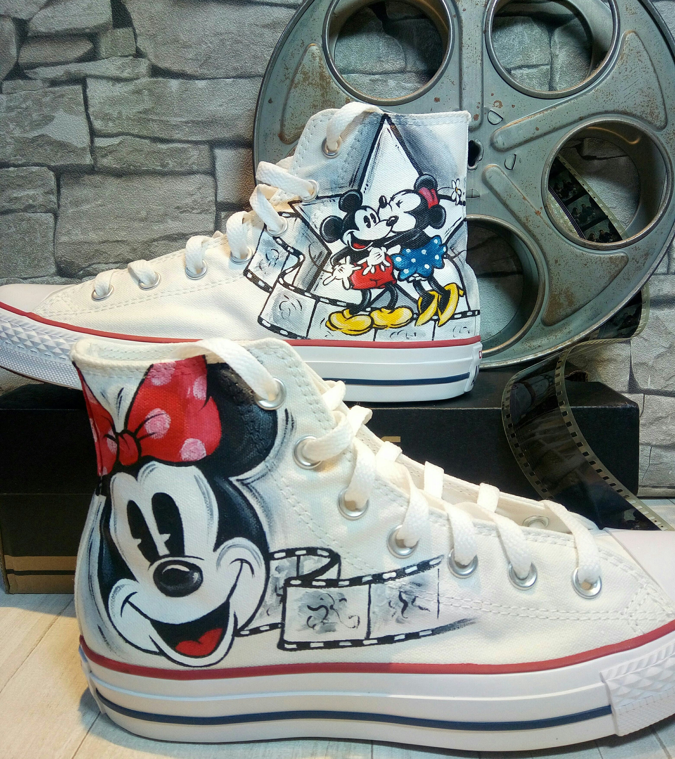 0d0b8ff3e7a9 Disney hand painted shoes converse hand painted shoes