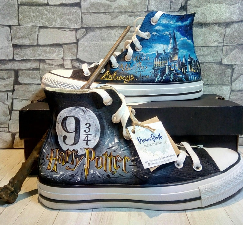 c2e84d8cf4e005 Harry Potter inspired shoes hand painted shoes custom