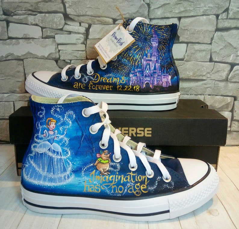 e194f2a792e16e Disney hand painted shoes Disney shoes Cinderella castle