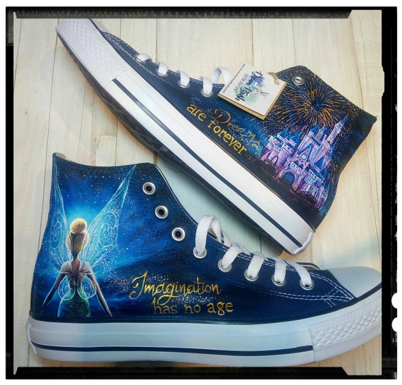 Disney Hand Painted Shoes Etsy