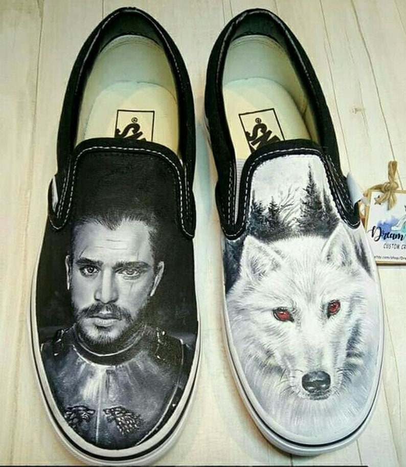 43d2270caa658f Jon snow shoes game of thrones shoes got shoes hand painted