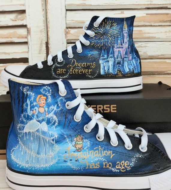 Disney hand painted shoes Disney shoes Cinderella castle   Etsy