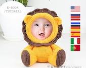 Crochet Pattern of Photo Frame LION (Tutorial, PDF file)