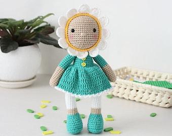 Crochet Pattern of DOLL - Chamomile (Amigurumi tutorial PDF file)