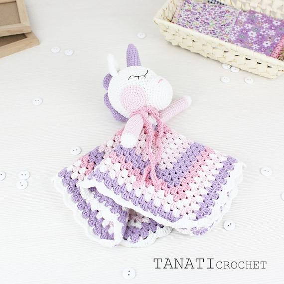 Blanket Unicorn Sweet Pattern Security Blanket Crochet   Etsy