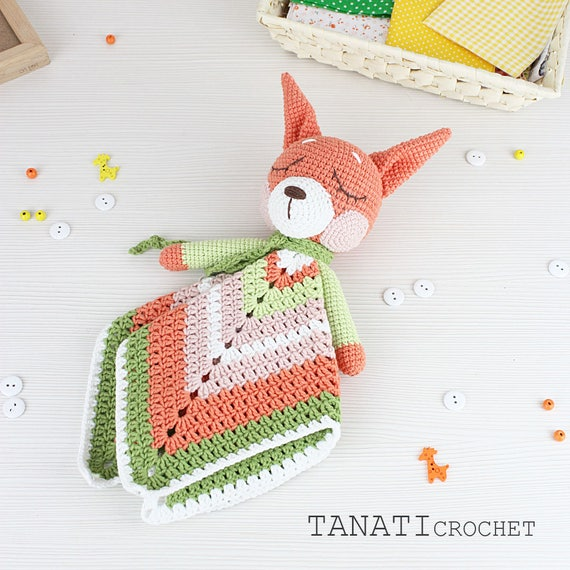 Blanket Squirrel Lovely Pattern Security Blanket Crochet | Etsy