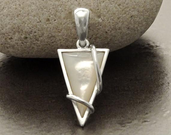 Small, Pendant, MOP, Silver, Pendant, Square, 925, Sterling Silver, Modern Style, Filigree, Original, Unique, Jewelry, Gift, X Mas, Jewelry.