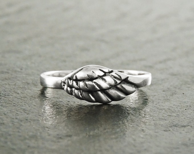 Angel Wing Ring, Wing Ring, Sterling Silver Angel Wing Ring, Angels Love Ring, Guardian Angel Jewelry, Feather Jewelry, Promise Ring, Gift