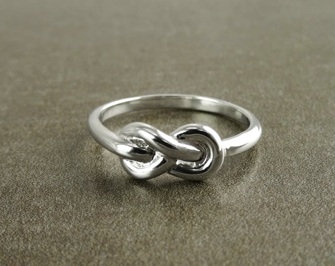 Nautical Knot Ring, Sterling Silver, Seafarer Knot Ring, Marine Jewelry, Sailor Mariner Reef Knot Ring, Maritime Ocean Sea Inspired Gift