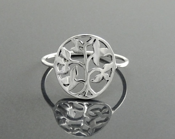 Tree of Life Ring, Sterling Silver, Nature Jewelry, Mother Earth Tree, Cosmic Tree, Life Powered Ring, knowledge Tree Wisdom, Vital Balance