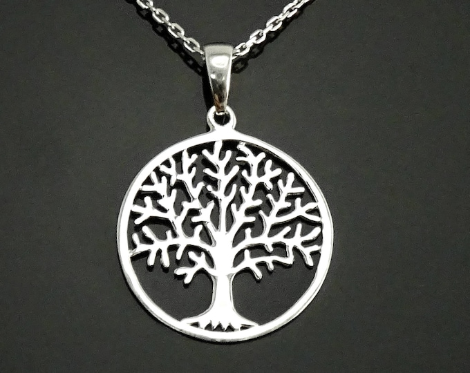 Tree of Life Necklace, Sterling Silver, Filigree Necklace, Nature Pendant, Woman Jewelry, Tree of Knowledge, Genealogical Tree Charm