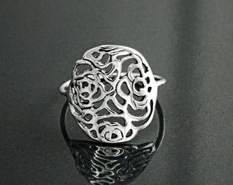 NO Stone Silver Rings