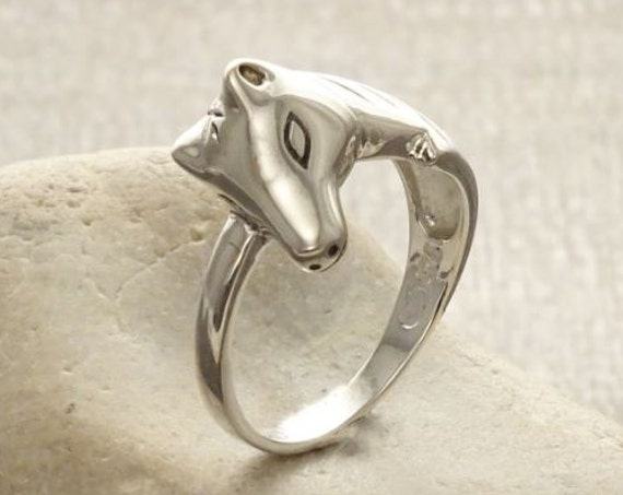 Horse Head Ring, Sterling Silver, Horse Rider Ring, Pony Ring, Horse jewelry, Equestrian Ring, Animal Theme, Horseback Riding Ring, Modern