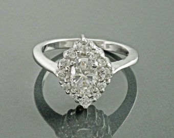 Marquise Ring, Sterling Silver, White Clear Stones (CZ), Multi stones Ring, Beautiful Classical Gift for Woman, for Her