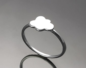 Cloud Ring, Sterling Silver, Cumulus Ring, Sky Ring, Tiny Wish Jewelry, Engravable Initials Ring