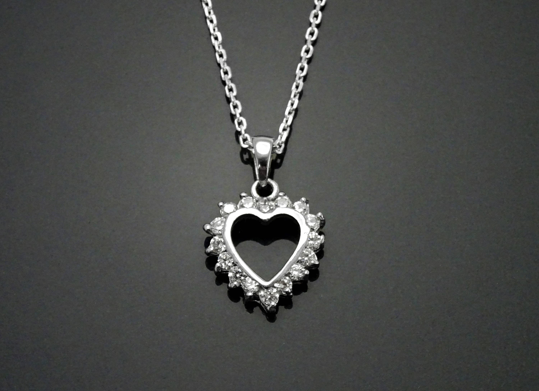 Sterling Silver Valentine Heart Charm