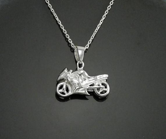 MATERIA Antik Silber 925 Motorrad Bead Anhänger für European Beads Armband
