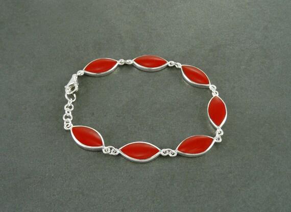 Sterling Silver, Red, Bracelet, Original, Unique, Women, Paypal, Fast Shipping, Elegant Bracelet, Sterling Jewelry, Urban, Modern, 925