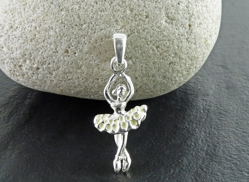 Ballerina Necklace Sterling silver Ballerina Charm Dance image 0